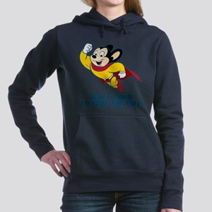 Mighty Mouse Here I Come Women's Hooded Sweatshirt