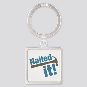 Nailed It Square Keychain