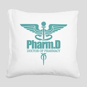 PharmD Square Canvas Pillow