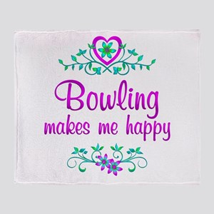Bowling Happy Throw Blanket