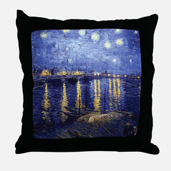 Starry Night Over the Rhone by Van Gogh Throw Pill