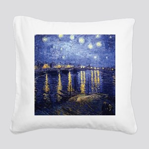 Starry Night Over the Rhone by Van Gogh Square Can