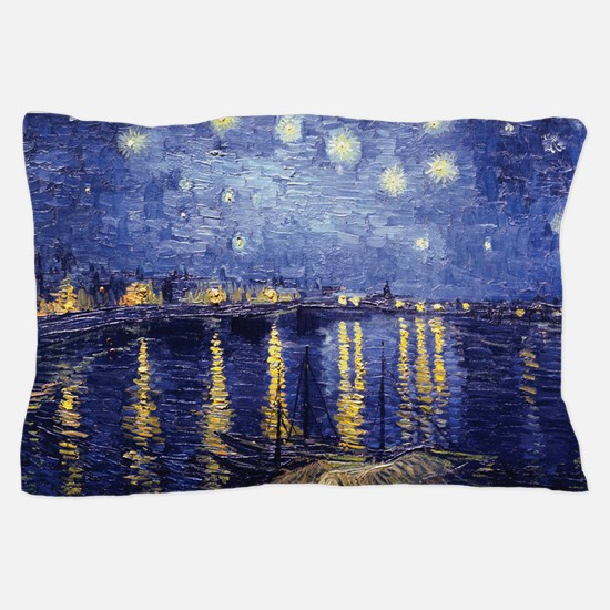 Starry Night Over the Rhone by Van Gogh Pillow Cas