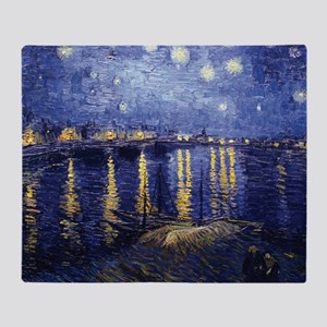 Starry Night Over the Rhone by Van Gogh Throw Blan