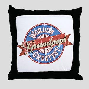 World's Greatest Grandpops Throw Pillow