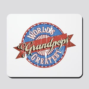 World's Greatest Grandpops Mousepad