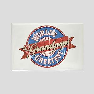 World's Greatest Grandpops Magnets