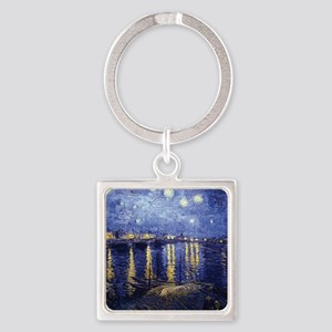 Starry Night Over the Rhone by Van Gogh Keychains