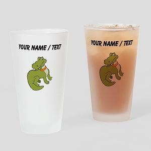 Custom Pet Alligator Drinking Glass