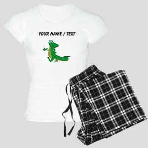 Custom Cartoon Alligator Pajamas