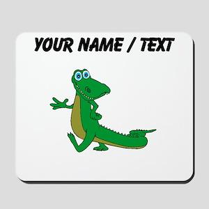 Custom Cartoon Alligator Mousepad