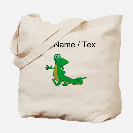 Custom Cartoon Alligator Tote Bag