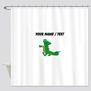 Custom Cartoon Alligator Shower Curtain