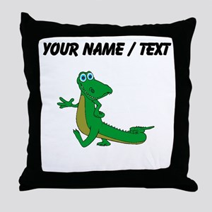 Custom Cartoon Alligator Throw Pillow