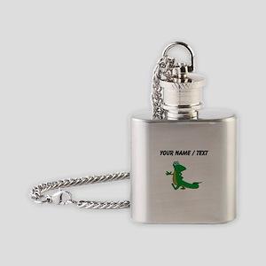 Custom Cartoon Alligator Flask Necklace