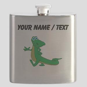 Custom Cartoon Alligator Flask