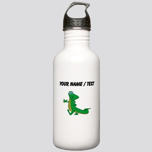Custom Cartoon Alligator Water Bottle