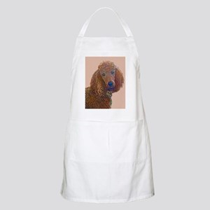 RED POODLE LOVE Apron