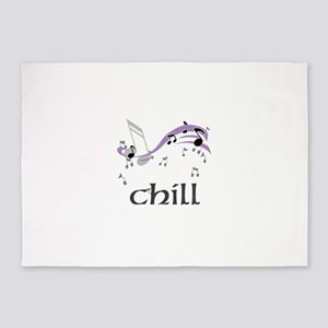 OYOOS Music Notes Chill design 5'x7'Area Rug