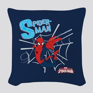 Ultimate Spider-Man Woven Throw Pillow