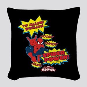 Spider Power Woven Throw Pillow