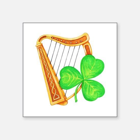 Harp and Clover Sticker