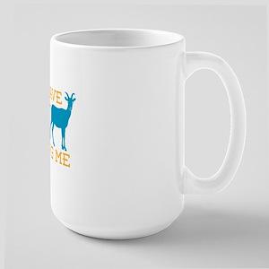 Goat Kidding Me Large Mug