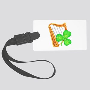 Harp and Clover Luggage Tag