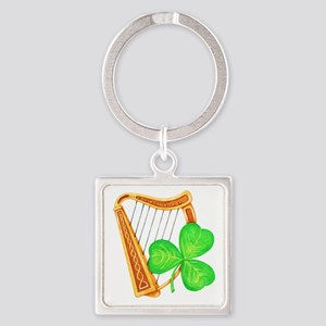 Harp and Clover Keychains