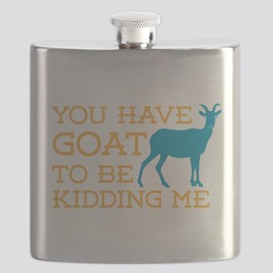 Goat Kidding Me Flask