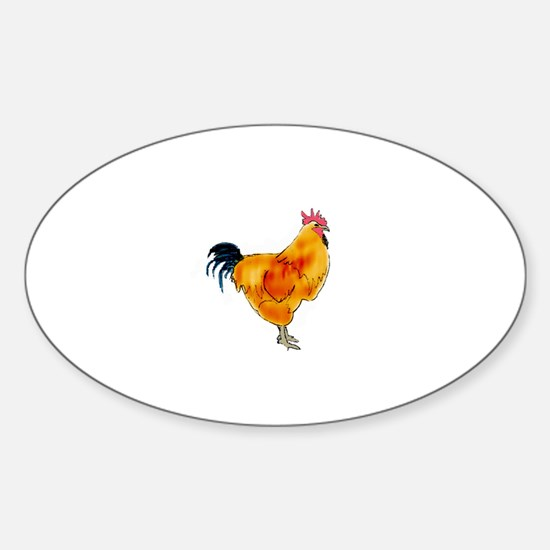 Rhode Island Red Rooster Decal