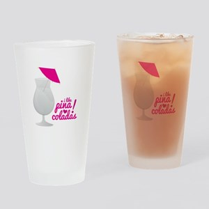 Pina Coladas Drinking Glass
