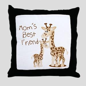 Mom's Best Friend Throw Pillow