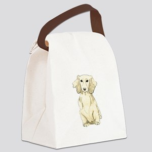 Longhaired English Cream Miniatur Canvas Lunch Bag
