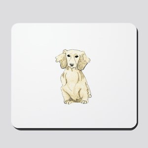 Longhaired English Cream Miniature Dachs Mousepad