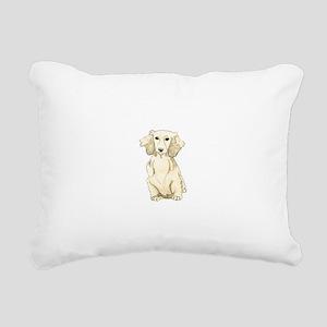 Longhaired English Cream Rectangular Canvas Pillow
