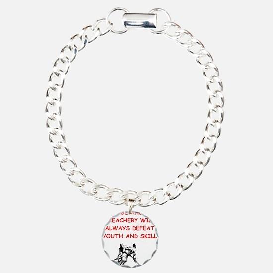 i love hockey Bracelet