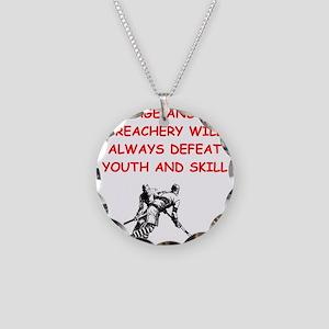 i love hockey Necklace