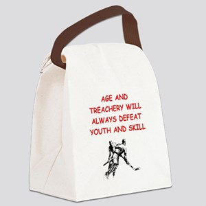 i love hockey Canvas Lunch Bag