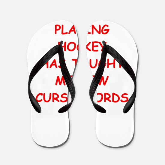i love hockey Flip Flops