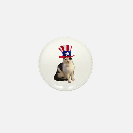 Uncle Sam Cat Mini Button