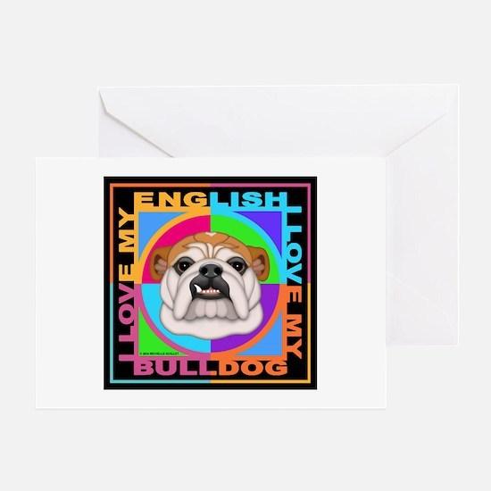 Dog Breed Graphics Bulldog Card Greeting Cards