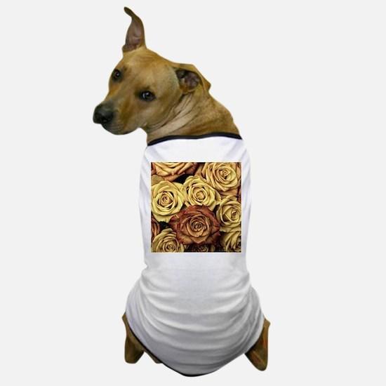 Vintage Roses Dog T-Shirt