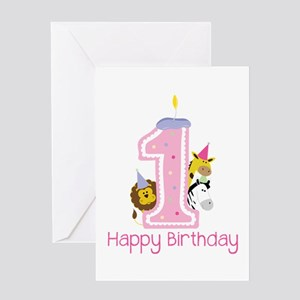 1 Happy Birthday Greeting Cards