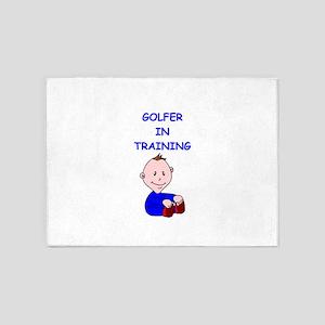 i love golf 5'x7'Area Rug