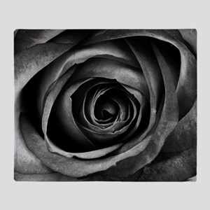 Black Rose Throw Blanket