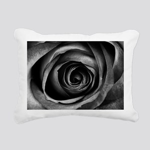 Black Rose Rectangular Canvas Pillow