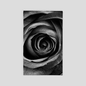 Black Rose Area Rug