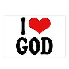 I Love God Postcards (Package of 8)