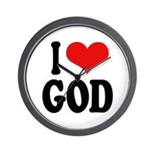 I Love God Wall Clock